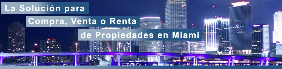 Venta y renta de bienes raices en Miami
